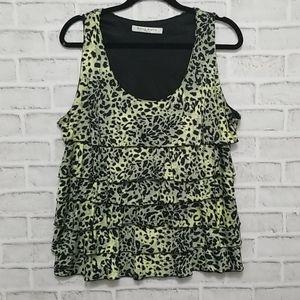 3/$20 Bianca Nygard Leopard Print Top XL